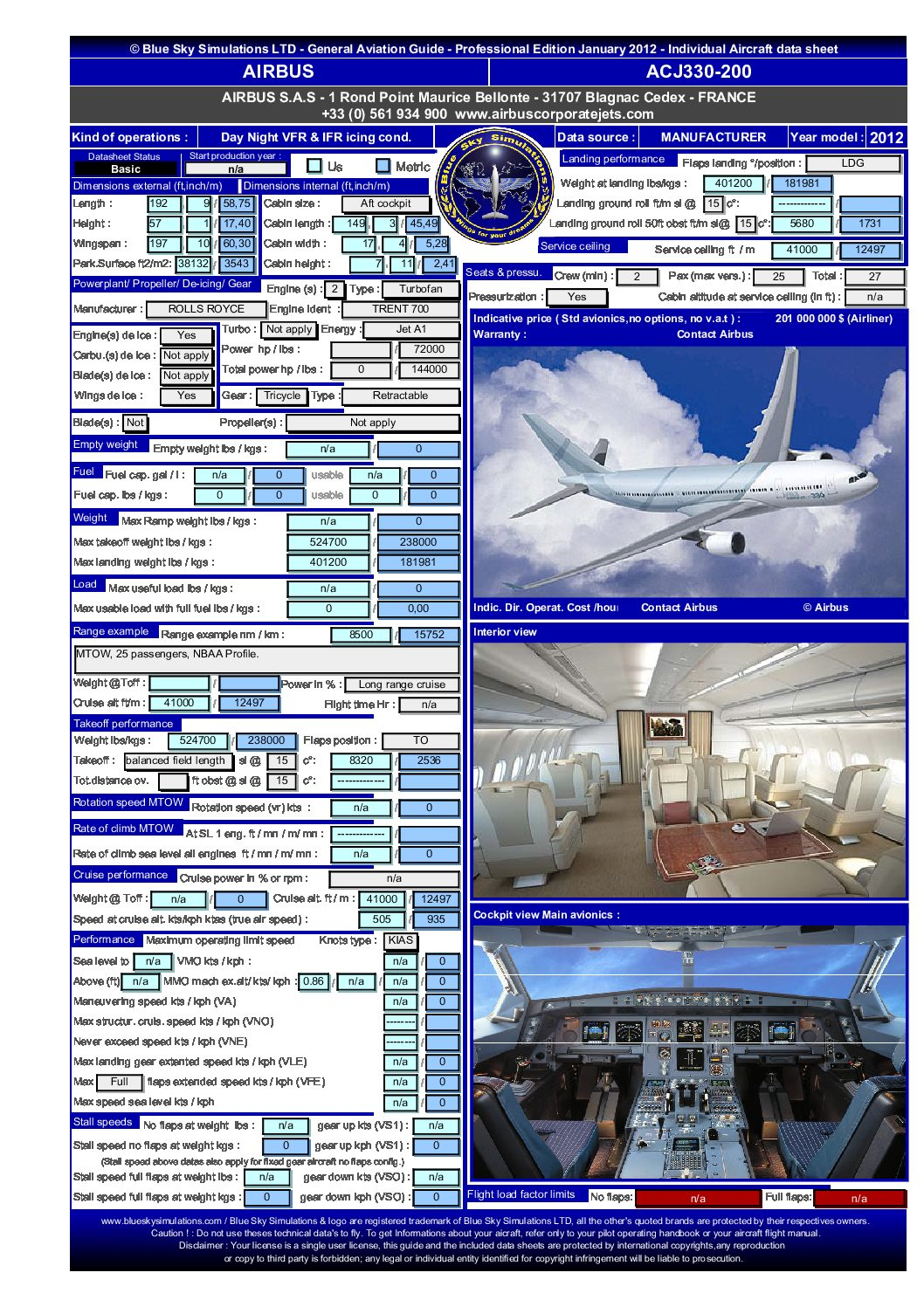 Aviation catalog Airbus A330 200