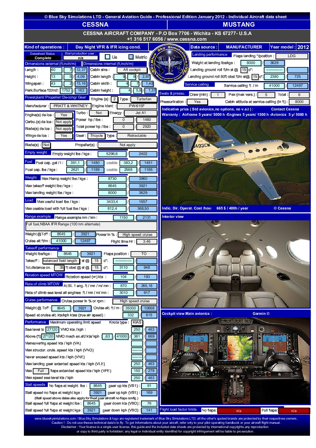 Aviation catalog Cessna Mustang