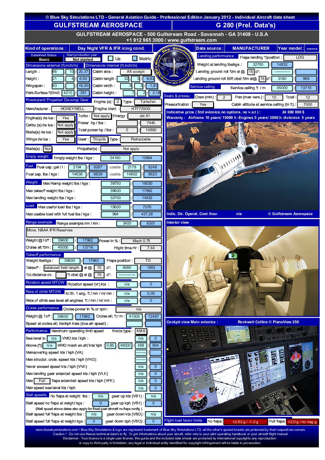 Aviation catalog Gulfstream G 280